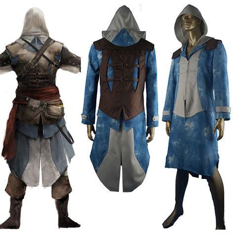Sweater Anime Assassins Creed 4 Sweater Wg Asc 03 assassins creed black flag costume edward kenway jacket hoodie