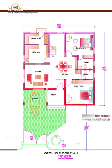 house plans 2000 square feet kerala modern house plan 2000 sq ft kerala home design and