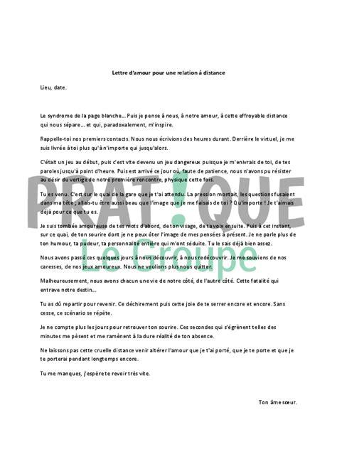 Exemple De Lettre Famille Lettre D Amour Pour Une Relation 224 Distance Pratique Fr
