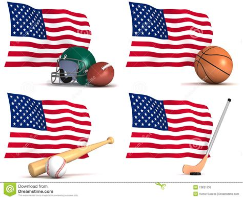 sports played in the united states of america stock