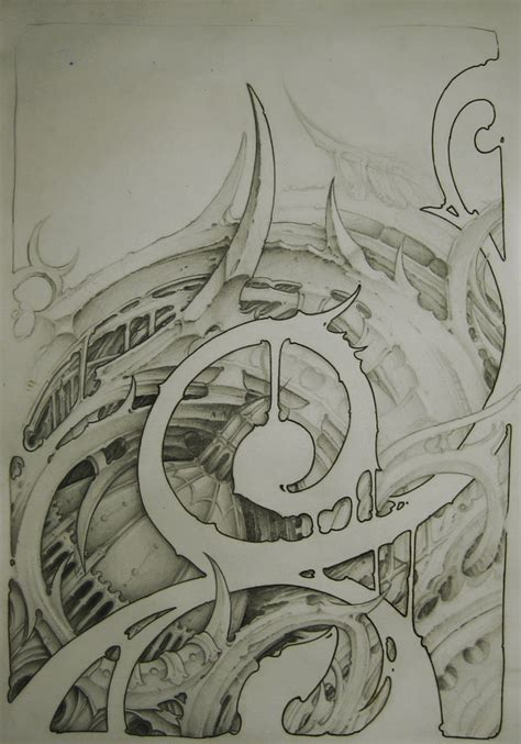 biomechanical tattoo line drawing biomechanical sketch by sideusz on deviantart