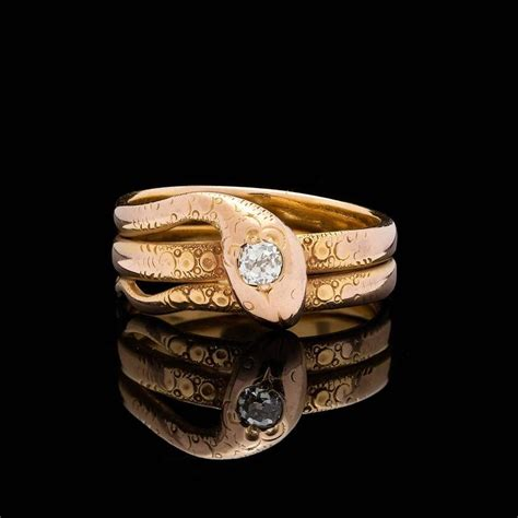 mine gold serpent ring at 1stdibs