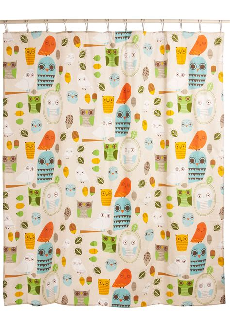 where to buy cute shower curtains shower power shower curtain in owl clean mod retro