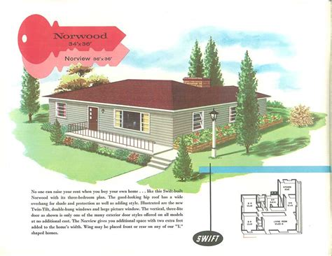 Aladdin Homes Floor Plans by 1950 Ranch House Plans