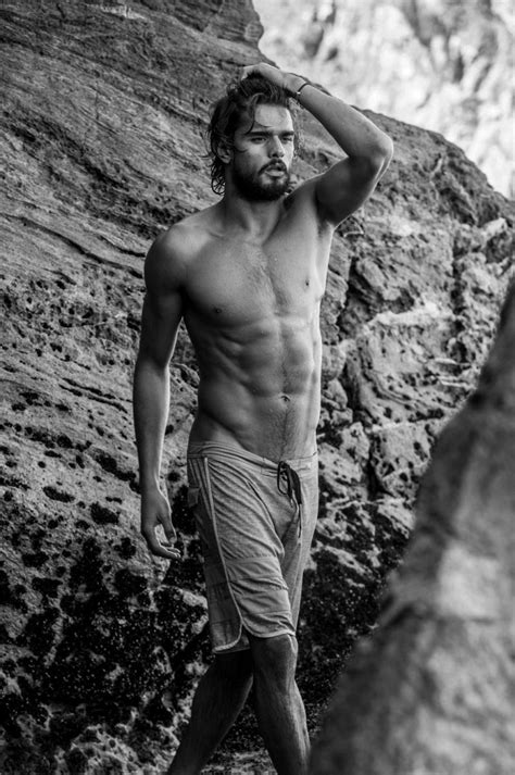 Marlon Teixeira Hits the Beach, Posing in Swimwear for