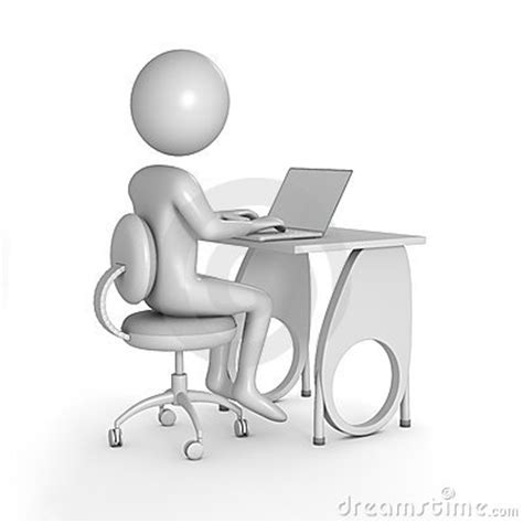 person at desk stock image image 15087641