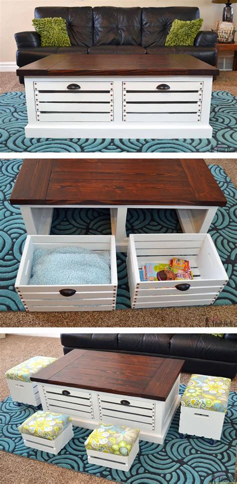 diy living room furniture best 25 coffee table storage ideas on pinterest folding