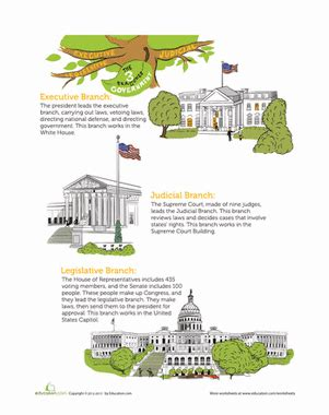Three Branches Of Government Worksheet by The Three Branches Of Government Worksheet Education