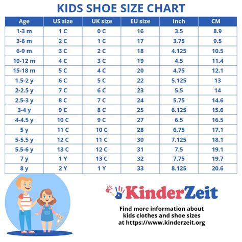 kids shoe sizes childrens shoe sizes  age boys