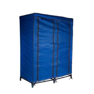 Home Depot Portable Closet by Trademark Home Navy Blue Portable Closet With 4 Shelves 82
