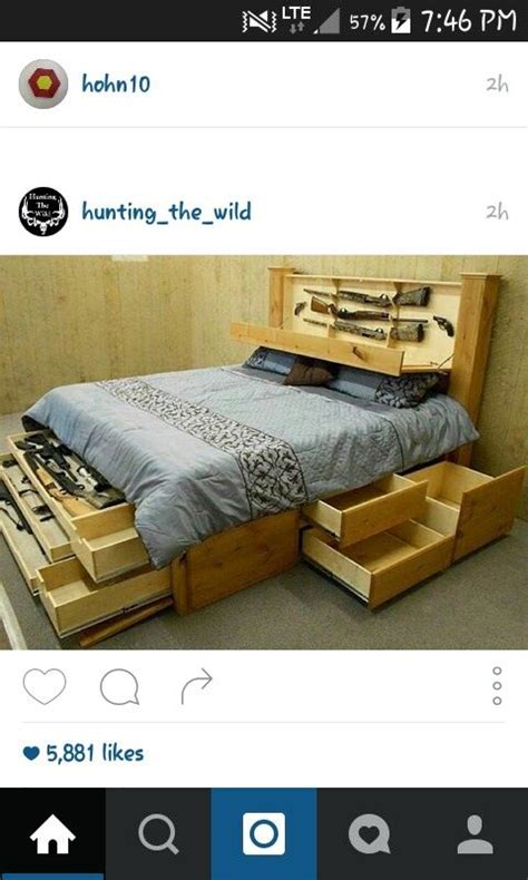 headboard gun safe gun safe bed home pinterest beds gun safes and guns