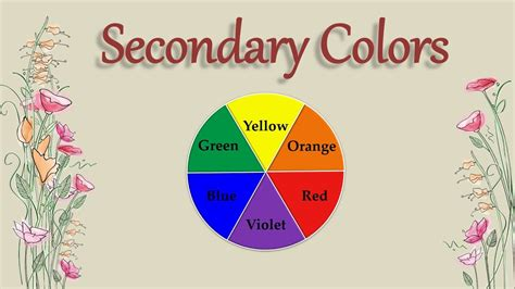 what is a secondary color primary and secondary colors for blue yellow