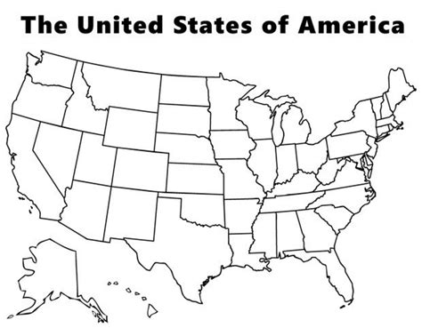 map of us states to color united states map coloring page regarding warm cool