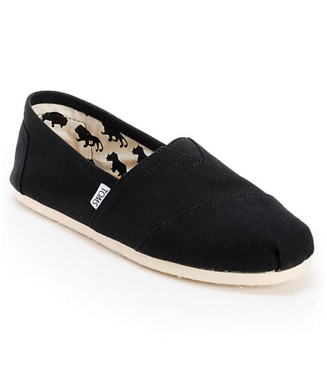 toms shoes s classic black shoes at zumiez pdp