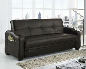 Brown Faux Leather Sofa Bed by Storage Sofa Bed With Cupholders Black Brown White