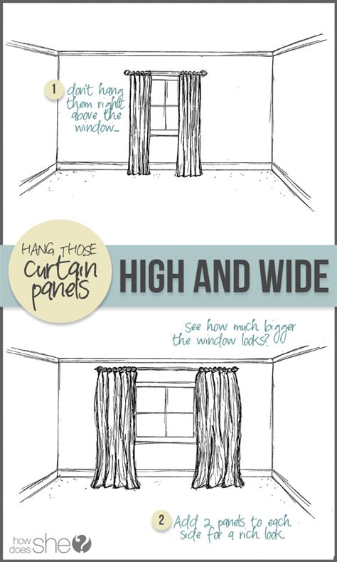 how wide to hang curtains room by room decorating secrets