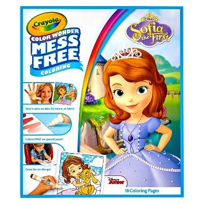 crayola giant coloring pages sofia the first crayola 174 color wonder refill coloring book sofia the