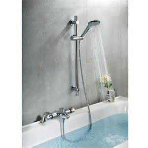 Deck Mounted Bath Shower Mixer richmond deck mounted thermostatic bath shower mixer tap amp slider rail