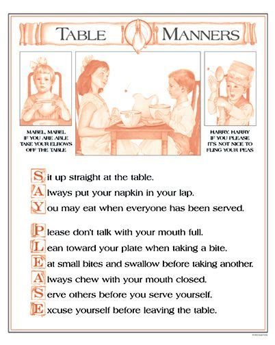 Important Aspects About Table Manners by 25 Unique Table Manners Ideas On Etiquette