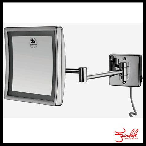 beautiful make up wall mount bathroom mirror square 110v 220v fashion square foldable wall mount magnifying