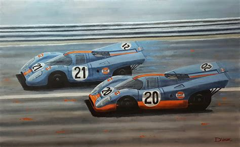 gulf porsche 917 porsche 917 gulf le mans 1970 gallery race cars paintings