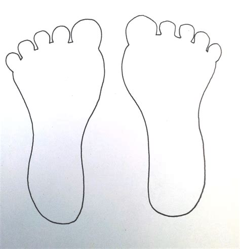 foot template take with you bugs thoughts works