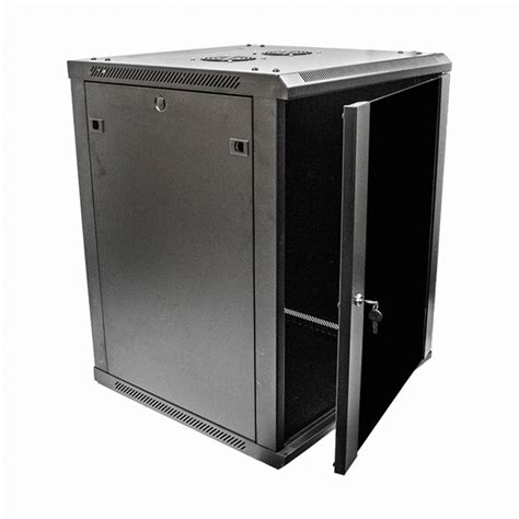 15u wall mount network server data cabinet 24 inch depth