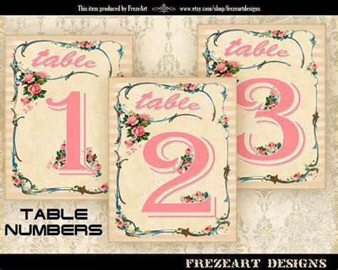 printable table numbers designs wedding table numbers printable vintage event table