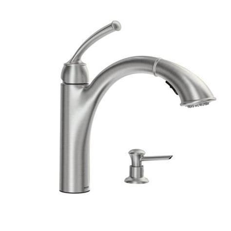 menards kitchen faucets moen sullivan single handle pullout kitchen faucet at menards 174