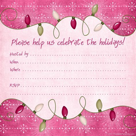 printable xmas party invitations free printable christmas and holiday party invitations