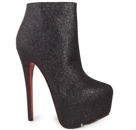High Heels Brokat Black black glitter high heels w botki szafa pl