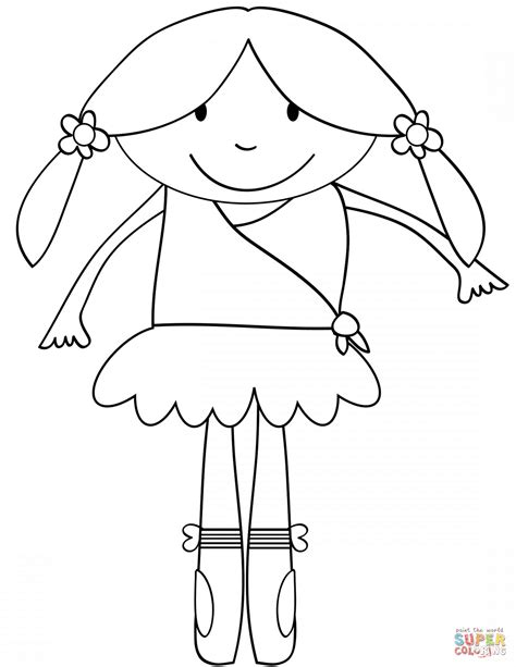 cute ballerina coloring pages cute cartoon ballerina coloring page free printable