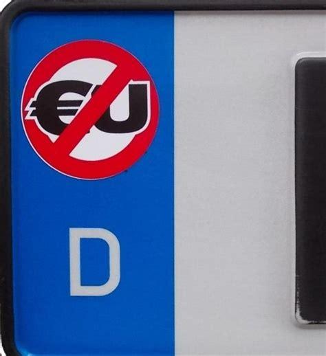Auto Aufkleber Eu by Anti Eu Kennzeichenaufkleber Sticker Freivolk Records