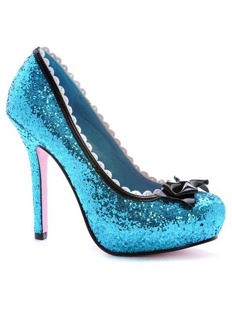Prewalker Heels Sparkling Blue princess blue glitter shoe 5001 princessblu fancy