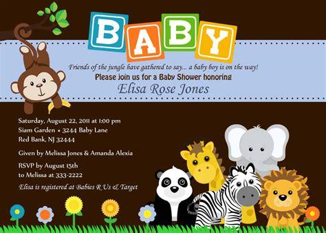 safari themed baby shower invitations  printable