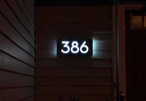 light up house numbers custom aluminum acrylic led house numbers sign 5