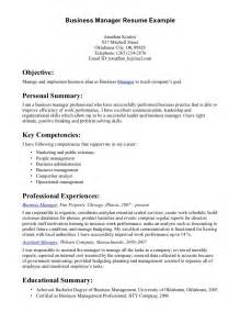 Business Resume by Best Business Manager Resume Sle 2016 Recentresumes