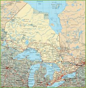 map of northern ontario canada ontario road map