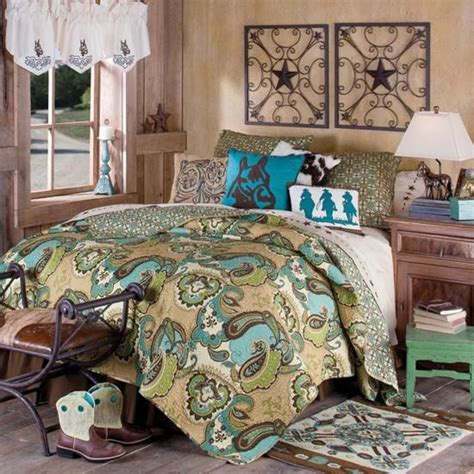 cowboy comforter cowboy quilted bedding collection western decor pinterest