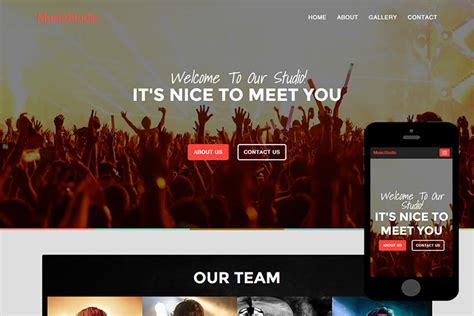 bootstrap themes free music musicstudio free bootstrap themes 365bootstrap