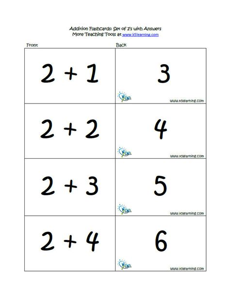 printable math flashcards addition addition flashcards k5 learning