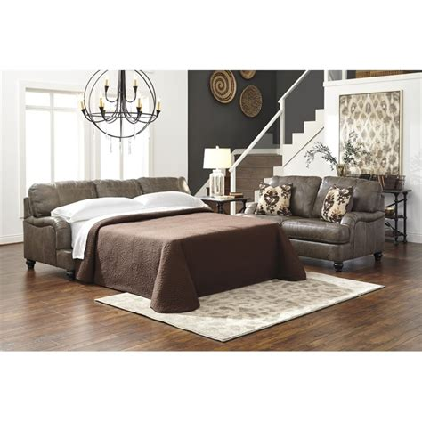 ashley furniture sofa beds ashley kannerdy queen leather sofa bed 8040239