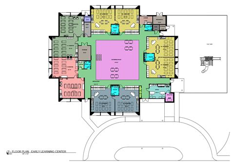 Floor Plan For Preschool Early Learning Center St Philip Neri Parish Capital
