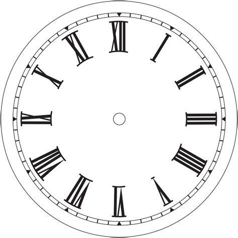 printable roman clock face clock images free cliparts co