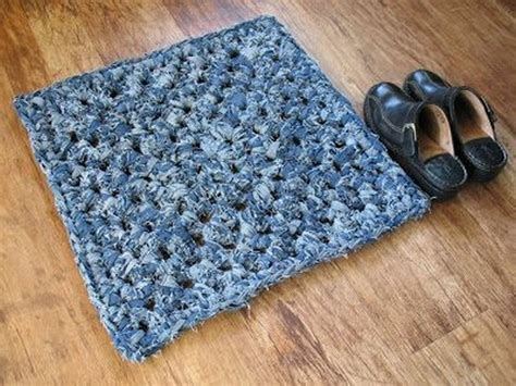 crochet denim rug genius diy projects made from denim recycled things