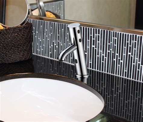 touch free bathroom faucet touch free bath faucet for residential pro