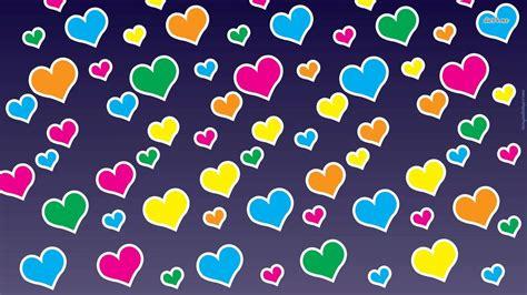 wallpaper of colorful hearts colorful hearts wallpaper wallpapersafari