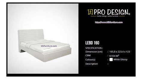 Ranjang Quantum lebd 160 ranjang minimalis putih legia pro design