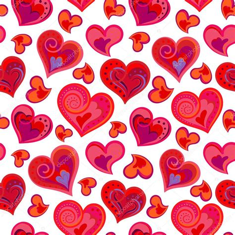 heart pattern by nao touyama love hearts seamless pattern cute doodle heart romantic