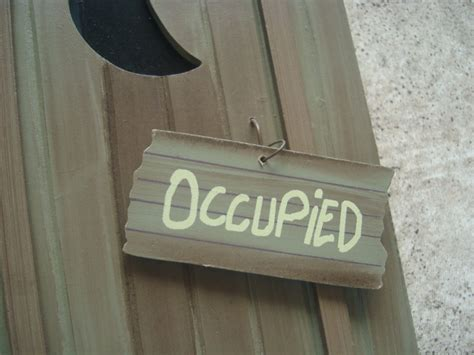 occupied sign for bathroom nature calls occupied rustic wood outhouse bathroom wall